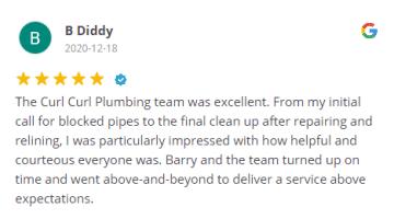 Curl Curl Plumbing - Google Review # 55